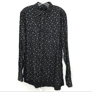All Saints Men's Button-Up Shirt Size XL